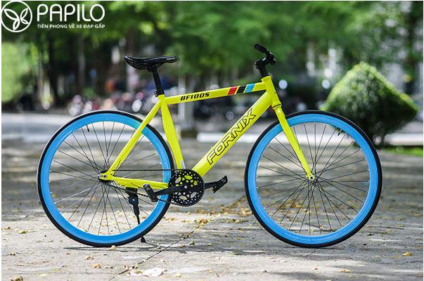 Xe đạp Fixed gear không phanh, không baga, không chắn bùn